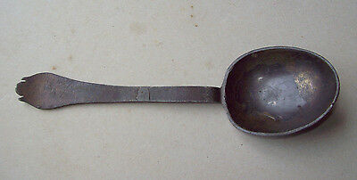 Rare Pewter Spoon With Rose Mark 1650-1725 Metal Detecting Find