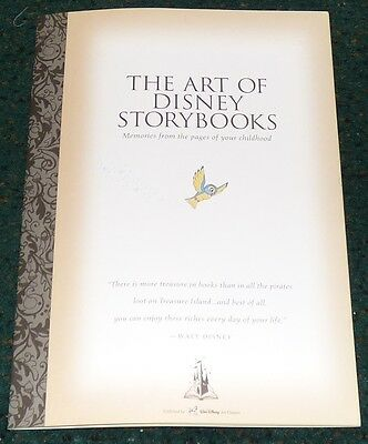 The Art Of Disney Storybooks Le Print Brochure Cinderella Snow White Peter Pan