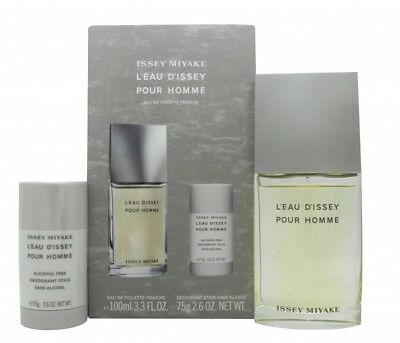 Issey Miyake L'eau D'issey Pour Homme Fraiche Gift Set 100Ml Edt + 75Ml Deo Stic