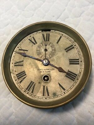 Antique Chelsea Car or Ship's Clock With Dial Marked Udall & Ballou New York