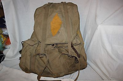 US Military Issue  WW2 U.S. ARMY Combat Rucksack Backpack Mountain Pack Named
