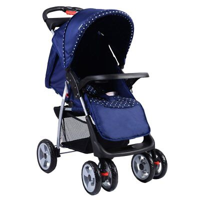 Costzon Blue Foldable Baby Kids Travel Stroller Newborn Infant Buggy Pushchair
