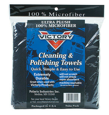 Genuine Victory Motorcycle Super Plush Soft Microfiber Towels 2 Pack 2862417