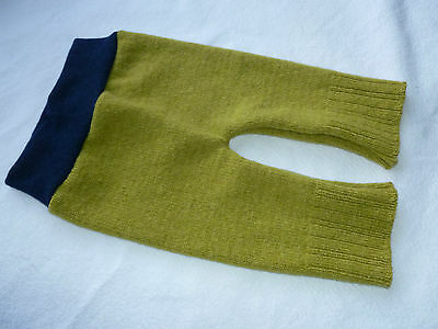 wool longies longie *NEW* diaper cover soaker pants yellowish green M