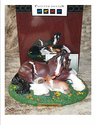 TRAIL OF PAINTED PONIES Home Sweet Home Low 1E/0178~Clydesdale Mother and Foal~