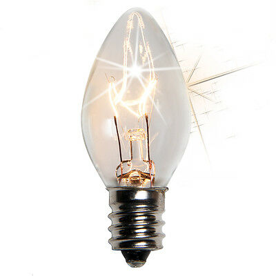 C-7 Light Bulbs Replacement Lighting Lights Only Any Color Steady Twinkle C7 E12
