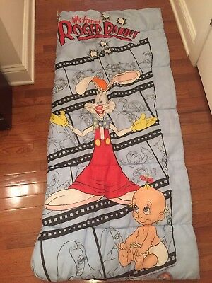 Vintage Disney Who Framed Roger Rabbit Sleeping Bag