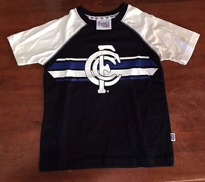 Afl Carlton Blues Official Kids T Shirt Brand New Various Sizes