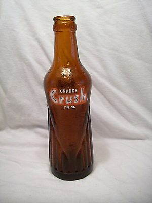 Orange Crush Bottle  7  Oz.  Different Shape Than Others  Rare    7 Inches Tall