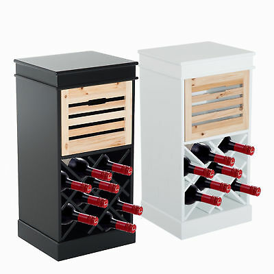 Wine Rack Bottle Holder Storage Cabinet Unit Vintage Drawers Functional Tabletop