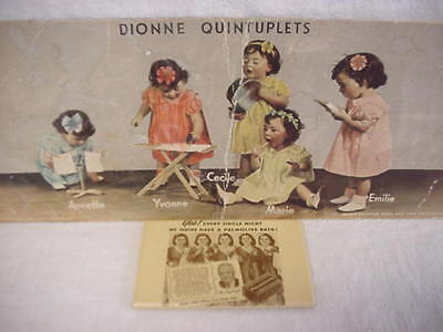 MIRROR advertising PALMOLIVE BATH SOAP DIONNE QUINTUPLETS Allen Roy DaFoe 1930's