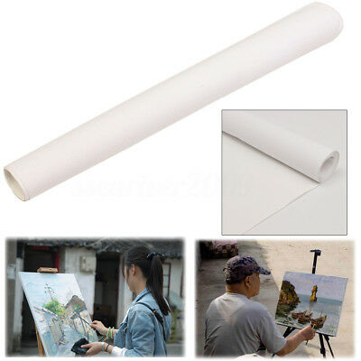 Stretched Artist Blank Canvas Roll Paint Cotton ART Oil Drawing Crafts 200x40CM