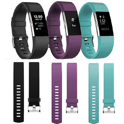 Silicone Rubber Replacement Band Strap Wristband Bracelet For Fitbit CHARGE 2