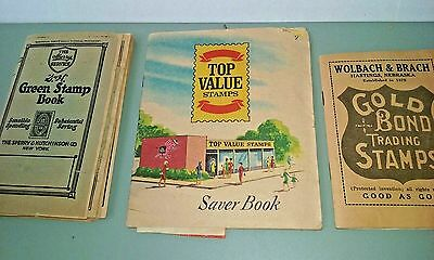Vintage Redemption Stamps and books S&H Green Stamps Top Value Gold Bond