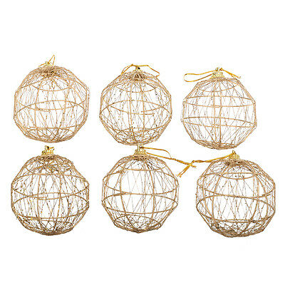 6pcs Christmas Tree Ball Baubles Hanging Xmas Party Ornament Home Decoration
