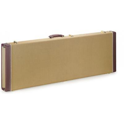 Stagg GCX-RE GD Vintage Style Gold Tweed Deluxe Electric Guitar Square Hard Case