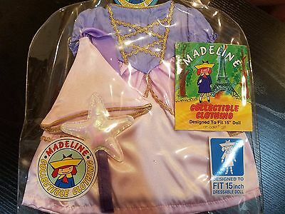 """Madeline Outfit Collectible Clothing Princess Rapunzel Dress for 15"""" Doll NIP"""
