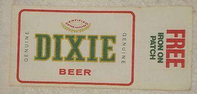 VINTAGE DIXIE BEER IRON ON PATCH New Orleans La Brewery