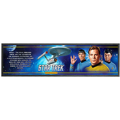 Star Trek USS Enterprise Printed Rubber Backed Bar Runner Mat New 89x25cm