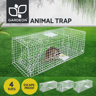 Humane Animal Trap Cage Possum Fox Koala Rabbit Bird Cat Live Catch Folding