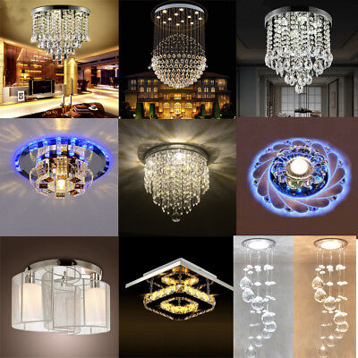 Modern Crystal Pendant Light Ceiling Lamp Chandelier Living/Dining Room Lighting