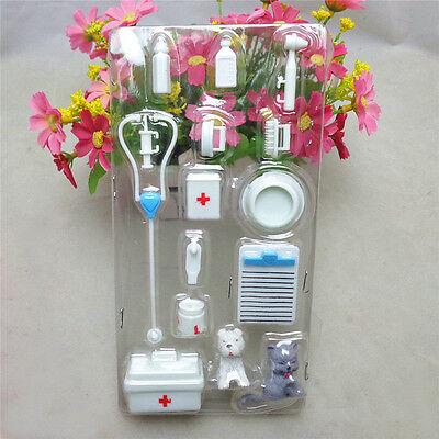 Hot 14Pcs Mini Medical Equipment Toys For Barbie Doll Accessories Set Plastic