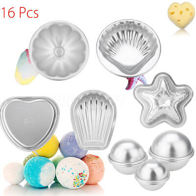 16PCS 8 Set Bath Bomb Mold Mould For DIY Own Fizzles Homemade Crafting AU