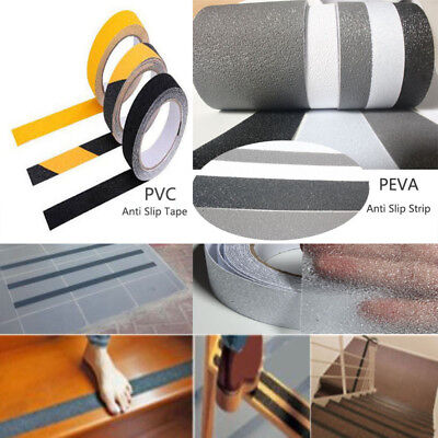 "1"" *16.4' Anti Slip Non Skid High Traction Safety Grit Grip Tape Adhesive Strip"