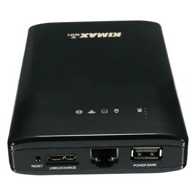 Wireless USB 3.0 2.5'' HDD External Enclosure Hard Drive Case+Cable+Power Bank