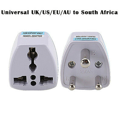 Universal UK/US/EU/AU to South Africa 3 pin Travel Power Adapter Plug