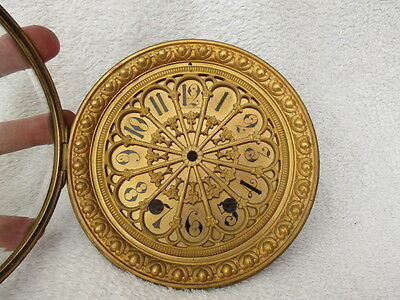 Large Beautiful Antique Clock Bezel, Dial, And Glass
