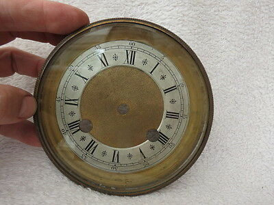 Antique French Clock Bezel, Dial, And Glass