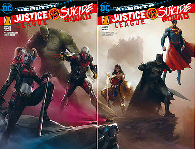 JUSTICE LEAGUE vs SUICIDE SQUAD 1  Variant  Cover Set- T 3 Karlsruhe  Panini