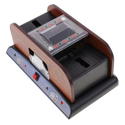 Card Shuffler Playing/Poker Cards Accs 2 Deck for Poker Game Lover Xmas Gift