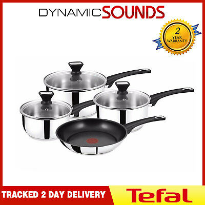 Jamie Oliver by Tefal Essential 4 Piece Non-stick Cookware Set Induction Pan Set