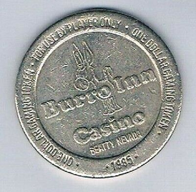 Burro Inn Casino $1.00 Gaming Token 1985 Beatty Nevada