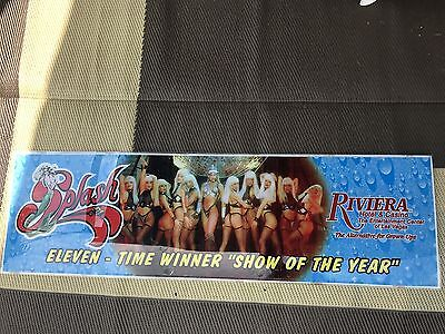 Riviera Hotel Casino Splash 11 Time Winner Of Year Large Sign Las Vegas Nevada
