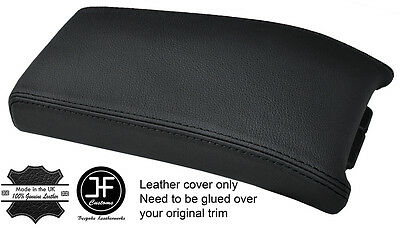 Black Stitch Real Leather Armrest Lid Cover Fits Mercedes Clk W208 C208 97-00