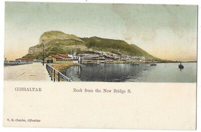 GIBRALTAR Rock from New Bridge S. Old Postcard by Cumbo, Unused