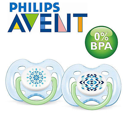 Philips AVENT SCF180/23 Contemporary Freeflow Soothers (0-6m) 2 Pack Blue