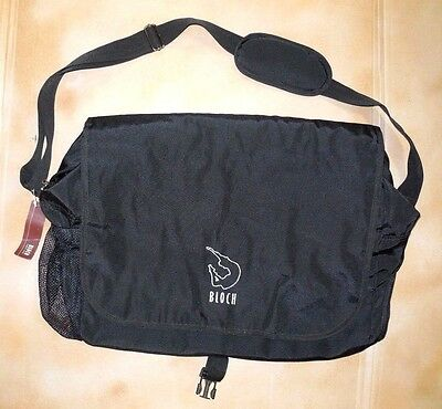 NWT Bloch A49 Dance Bag Black w/Silver Logo  Zipper Closure Oversized