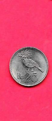 Indonesia Km34 1971 Unc-Uncirculated Old Vintage Circulated 25 Rupiah Coin
