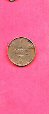 Norway Norwegian Km367 1951 Vf-Very Fine-Nice Old Vintage Bronze Ore Coin