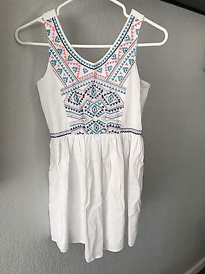 Children's Place Sz 12 Girls White Summer Party NWT L Mexican