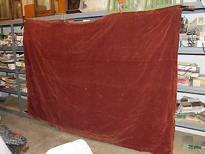 "Pair Of Large Antique Victorian Red Velvet Drapery Panels Each 69""'x 100"""
