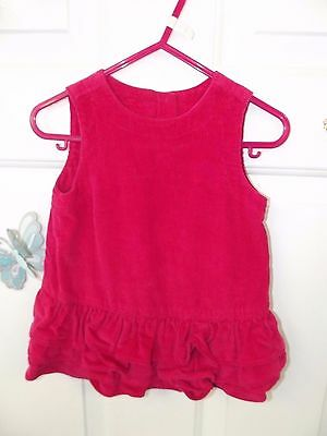 Gap - Baby Girl Red Soft Corduroy Dress With Pants In Size 3-6 Months