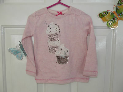 Baby Girl Pastel Pink  Long Sleeve Top  In Size 24  Mths