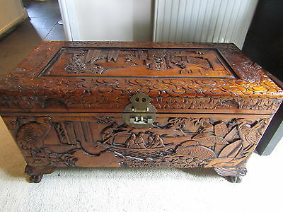 Oriental Carved Chest/Coffer