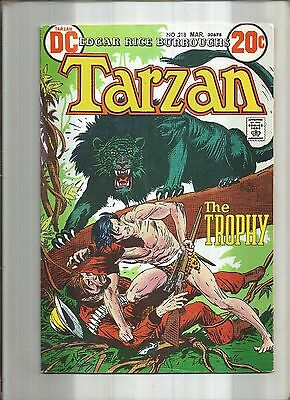 Tarzan #218  Joe Kubert  Dc 1973  Nice!!!