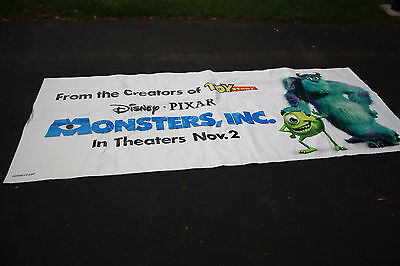 "Disney Monsters Inc. Promotional Movie Heavy Duty Vinyl Banner Sign 120"" x 50"""